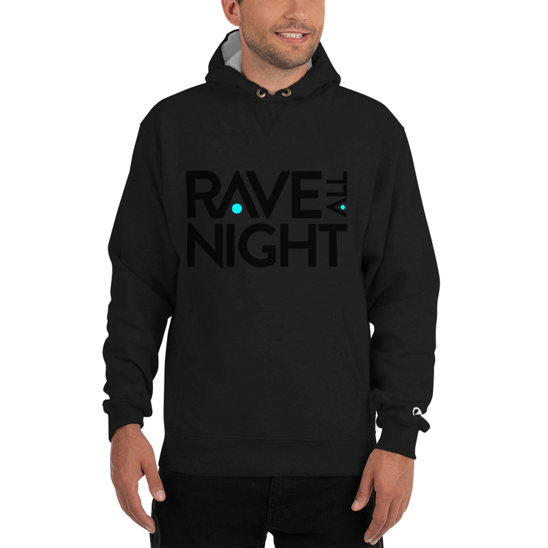 Mens Rave All Night Champion Hoodie - Rave All Night