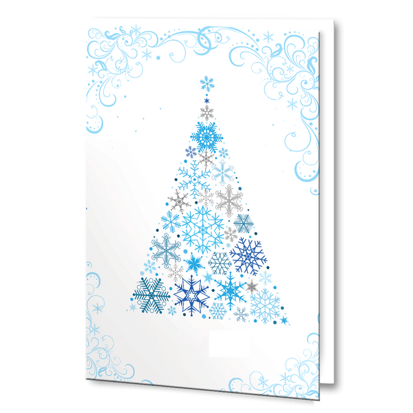 Blue and Silver Christmas Tree with detailing