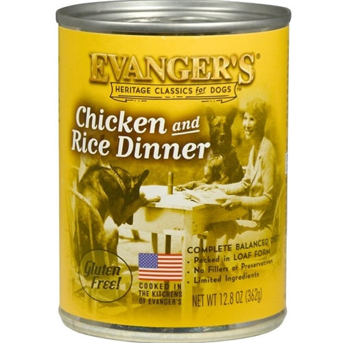 Evangers All Natural Classic Chicken and Rice Dinner Canned Dog Food