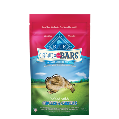 Blue Buffalo Mini Bars Baked with Chicken and Cheddar Dog Treats