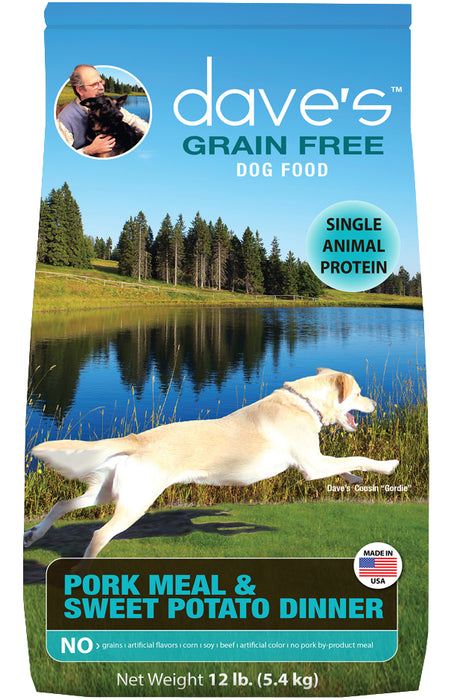 Dave's Grain Free Pork Meal & Sweet Potato Dry Dog Food