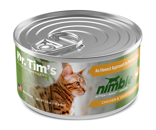 Dr. Tim's Nimble Chicken & Vegetable Pate Canned Cat Food