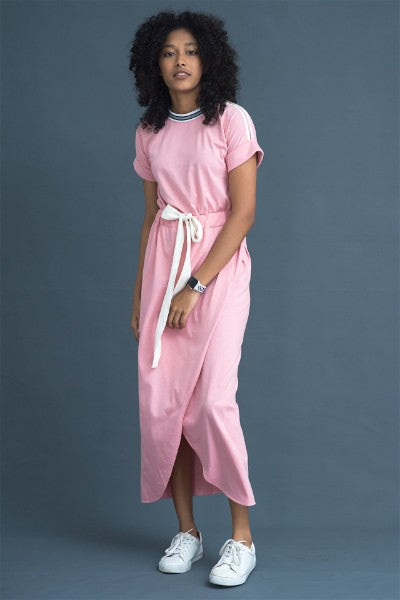 Long jersey Wrap dress
