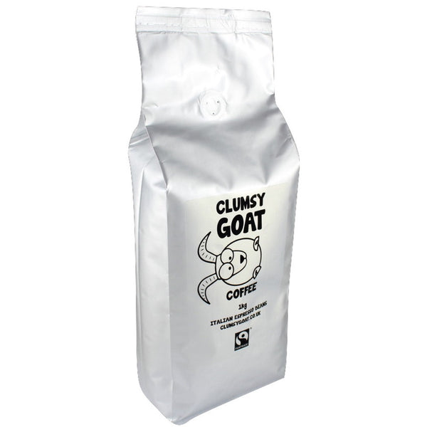 Clumsy Goat Fairtrade Italian Espresso Coffee Beans – 100% Arabica