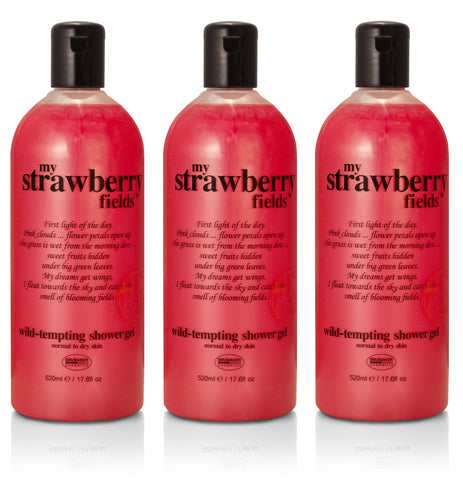 BRUBAKER 3-Pack Happiness Shower Gel, Body Wash, Bath Gel - 17.6 oz - Made in GERMANY