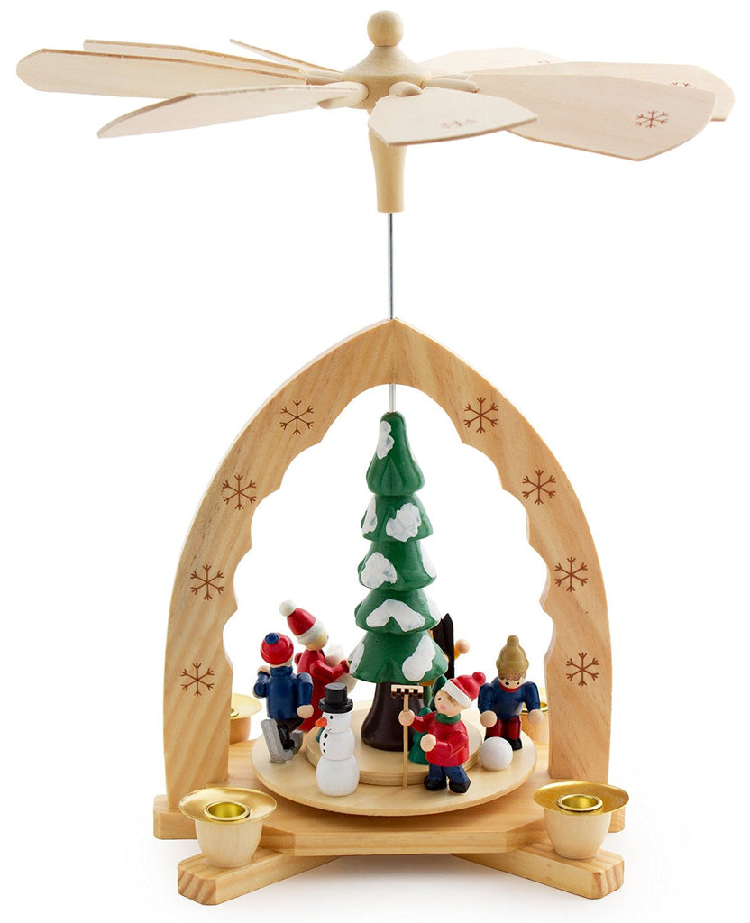 "BRUBAKER Christmas Pyramid 12"" - 'Under the Christmas Tree' - Handpainted Figures"