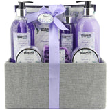 BRUBAKER Cosmetics 'Lavender & Mint' 12 Pieces Bath Gift Set in Decorative Jute Box 15QC11