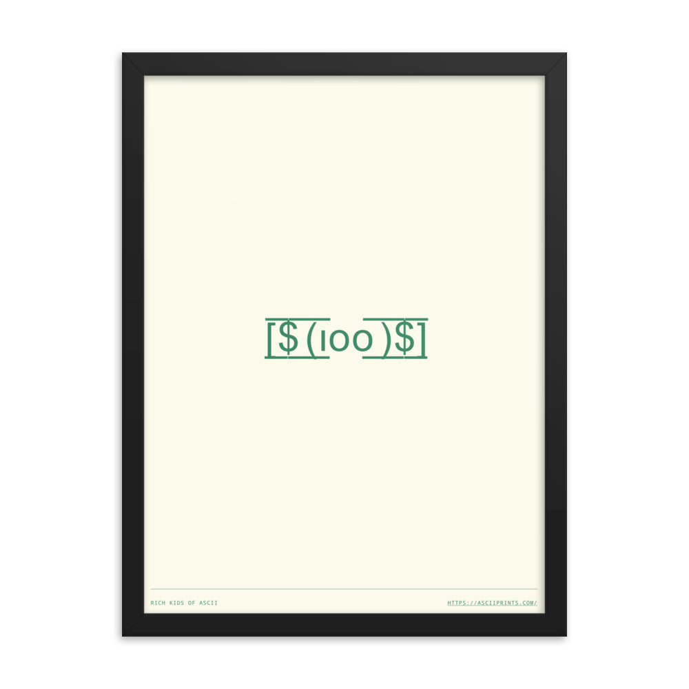 Rich Kids of ASCII 18in x 24in Framed Print