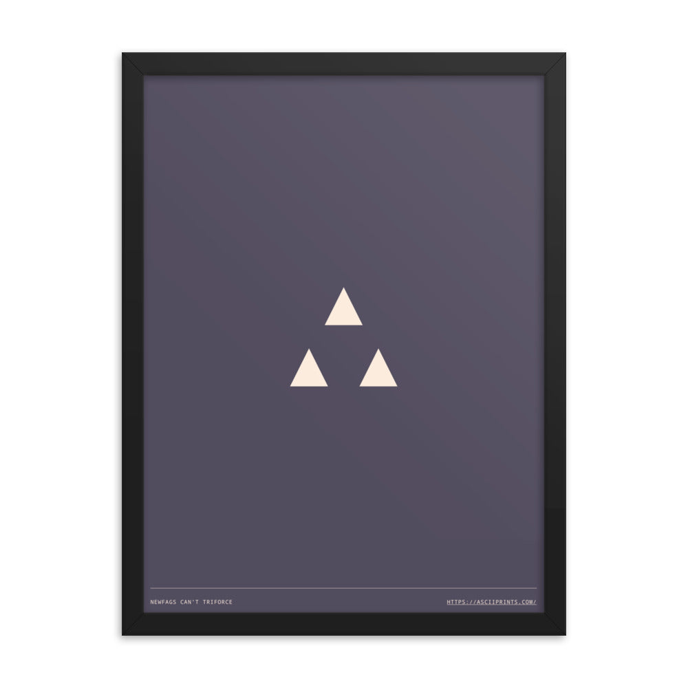 Noobs Can't Triforce 18in x 24in Framed print