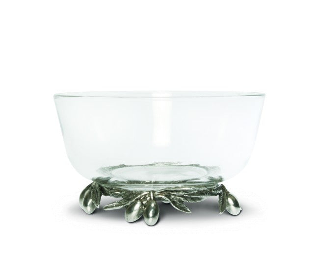 Olive Branch Glass Bowl