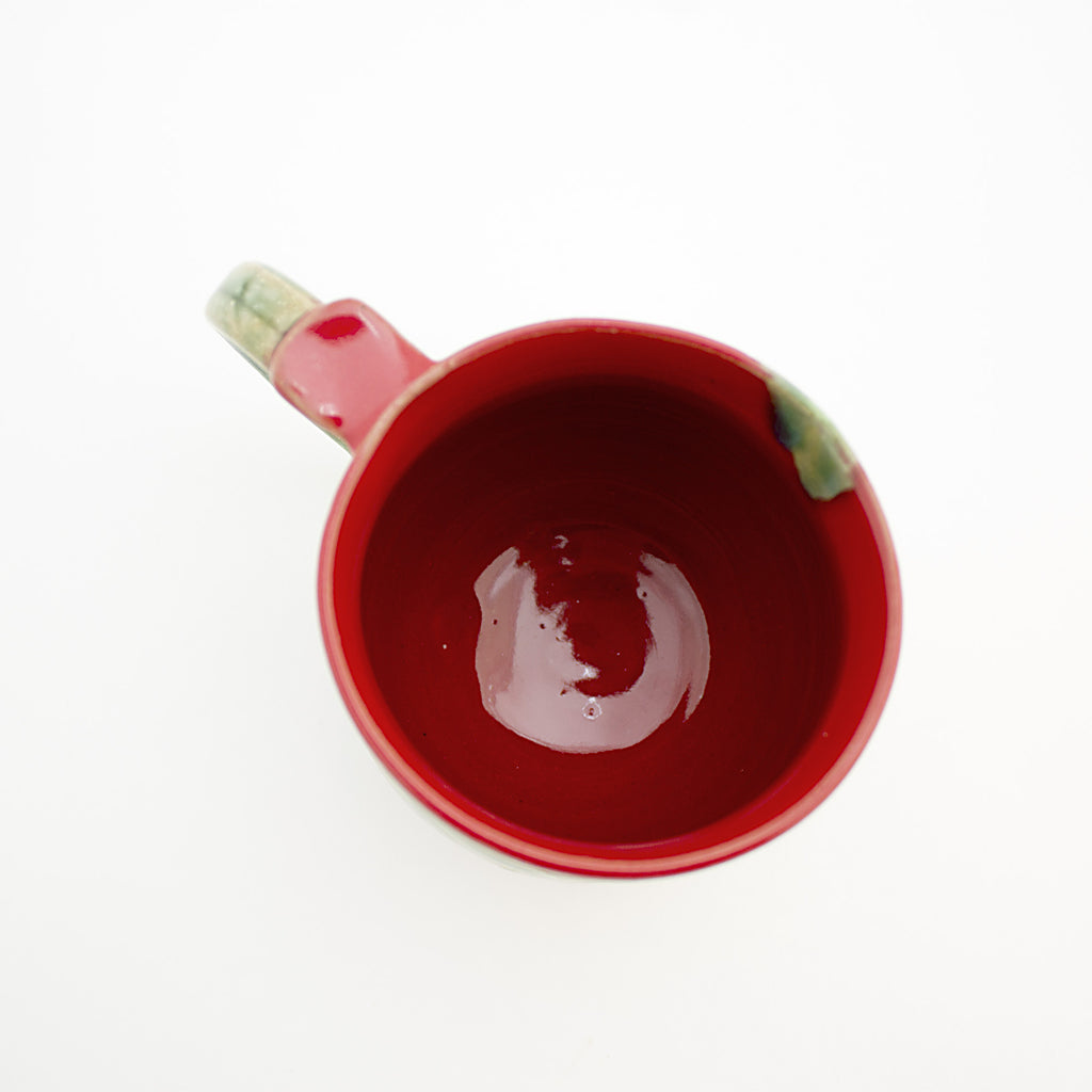Cherry Mug + Scallop Edge