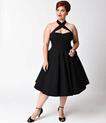Unique Vintage Rita Dress in Black