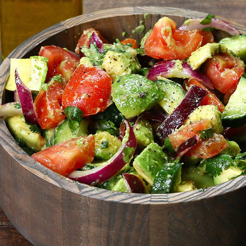 Healthy Cucumber, Tomato, and Avocado Salad