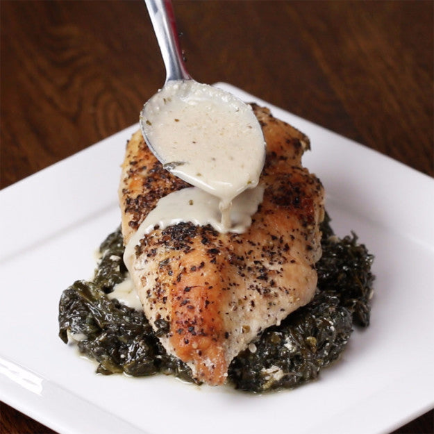 Creamy Spinach Lemon Chicken