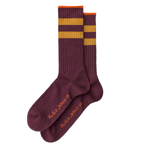Amundsson Sport Socks (Plum) - Nudie Jeans