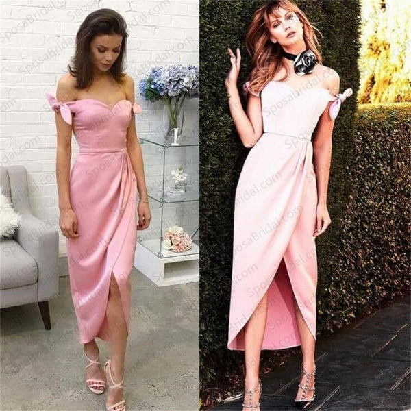 Cheap Pink Popular Unique Design Prom Dresses, Simple Special Occasion Prom Dresses, PD0449 - SposaBridal