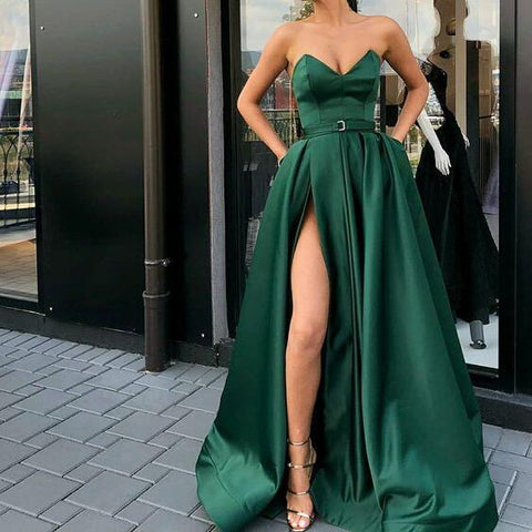 products/A-Line_Best_Sale_Popular_Sweetheart_Split_Front_Dark_Green_Long_Prom_Dresses_with_Belt_Pockets_2.jpg