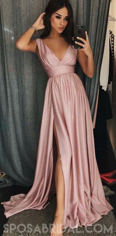 products/A-Line_V-Neck_Sleeves_Pink_Satin_Simple_Soft_Prom_Dresses_with_Split_Evening_Dress.jpg