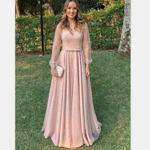 products/A-line_Elegant_V-NECK_Long_Sleeves_Pink_Long_Prom_Dresses_with_belt_PD0850.png