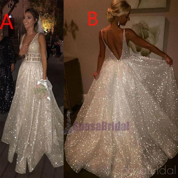 2019 Sparkly New Unique Design Shining Stunning Charming Elegant Affordable Prom Dresses, Evening party dress, PD0611 - SposaBridal
