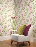 98352 Panama is a beautiful Pink / Green Nature Wallpaper from Holden Decor