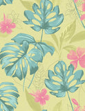 98353 Panama is a beautiful Green / Teal Nature Wallpaper from Holden Decor