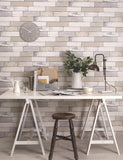 98461 Berkeley is a beautiful Cream / Grey Wood Effect Wallpaper from Holden Decor