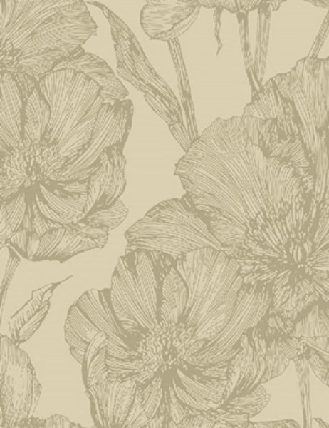 99109 Grace Flock is a beautiful Neutral Floral Flock Wallpaper from Holden Decor