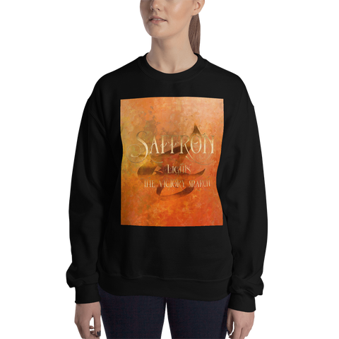 SAFFRON lights the victory march. Shadowhunter Children's Rhyme Quote Unisex Sweatshirt
