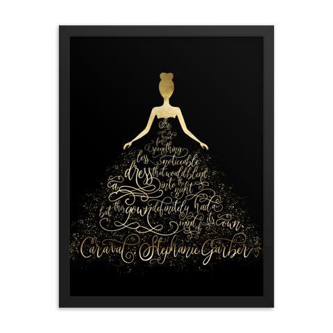 Scarlett's Enchanted Dress Caraval Art Print
