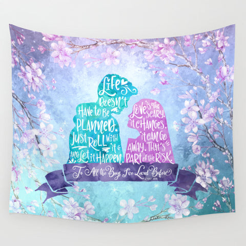 Life and Love According to Covinsky. To All the Boys I've Loved Before Quote Wall Tapestry
