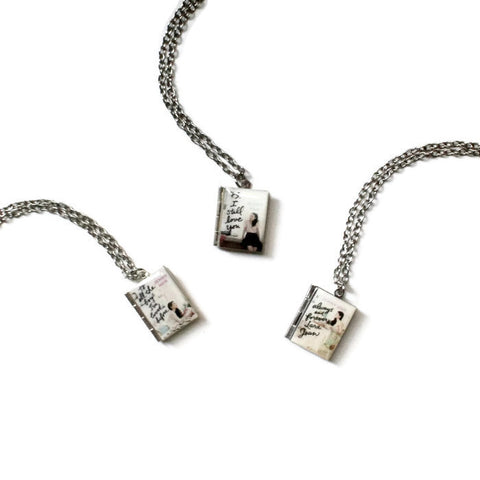 To All The Boys I've Loved Before Series Book Necklace - LitLifeCo.