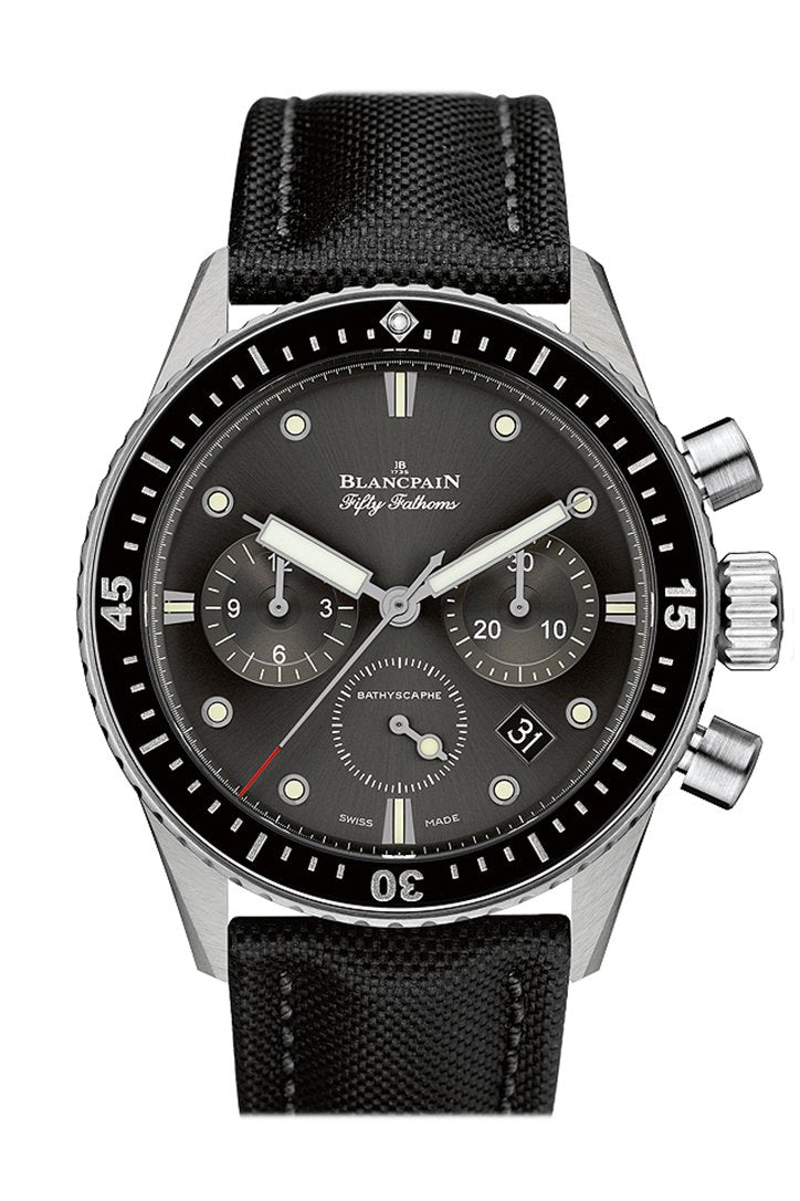 Blancpain Fifty Fathoms Bathyscaphe Meteor Grey Dial Chonograph Automatic Men's Watch 5200-1110-B52A