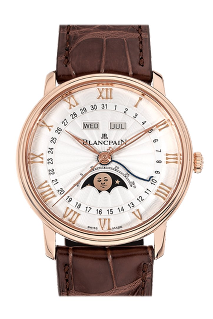 Blancpain Villeret Ultraplate Opaline Dial 18K Rose Gold Automatic Men's Watch 6104-3642-55A