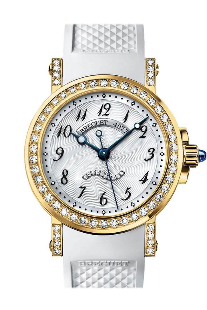 Breguet Marine II Automatic in Yellow Gold with Diamond Bezel Mother of Pearl Dial 8818BA/59/564DD00