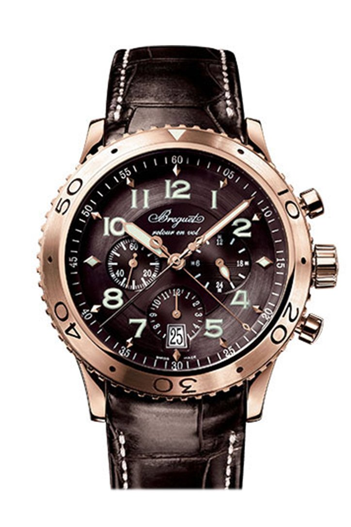 Breguet Transatlantique Type XXI Flyback Chronograph Rose Gold Men's Watch 3810BR929ZU