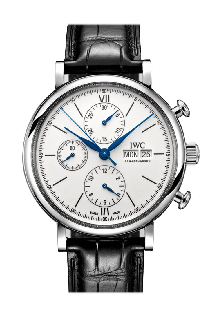 IWC Da Vinci Blue Dial Automatic Men's Chronograph Watch IW393402