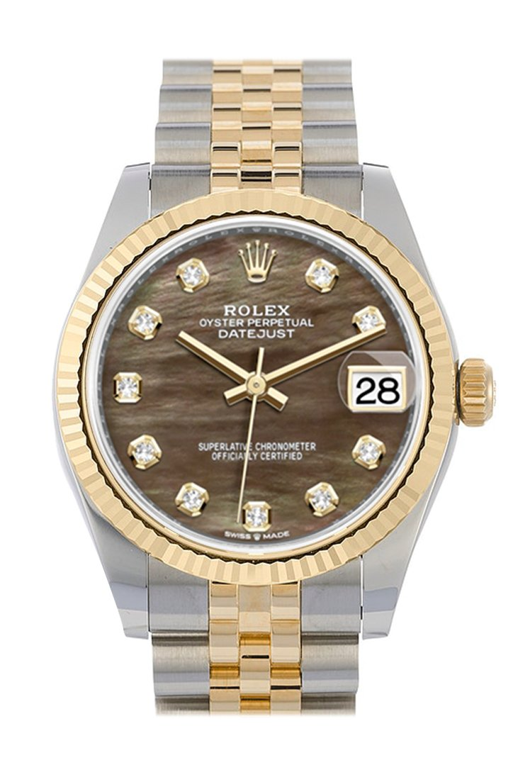 Rolex Datejust 36 Steel Roman 18k Gold Two Tone Jubilee Watch 116203