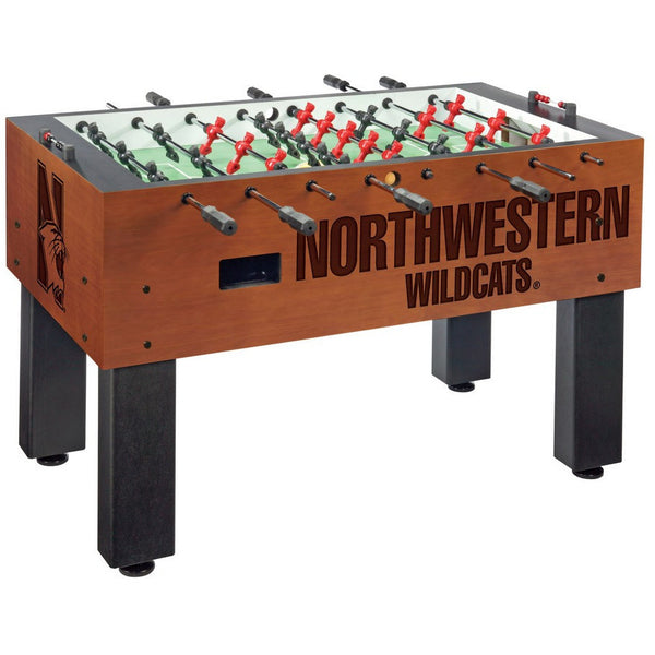 Northwestern Logo Foosball Table - Foosball Master