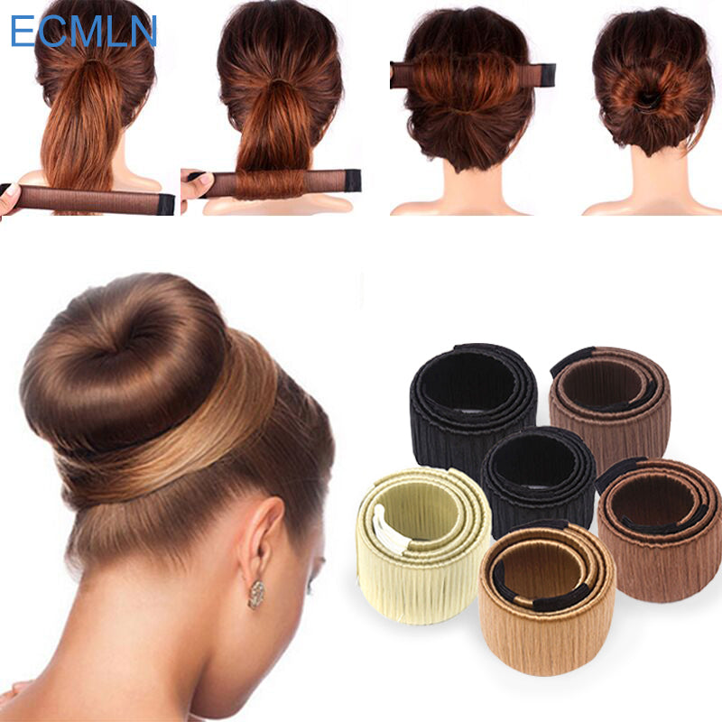 Synthetic Wig Donut Bun Head Band Ball - Trend-gem
