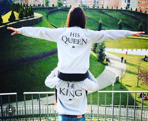 Couples KING QUEEN Long Sleeve Pullovers - Trend-gem