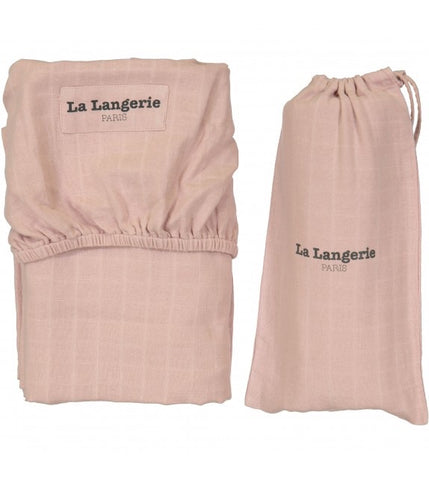La Langerie Baby Fitted Sheet Rose Poudre