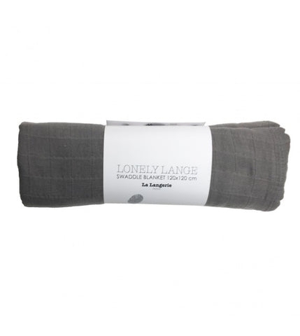 La Langerie Lonely Lange Swaddle Blanket Big Taupe Grey
