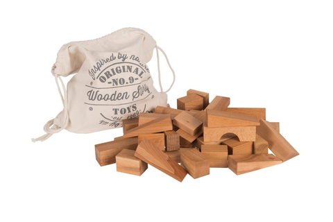 Wooden Story Natural Blocks XL in Sack 50pcs