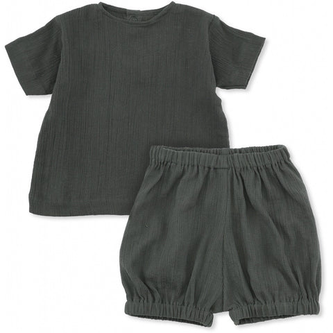 Konges Slojd High Twist Boy Tee + Bloomer Teal