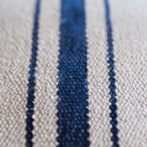 "Blue On Tan Stripe 20"" Square"