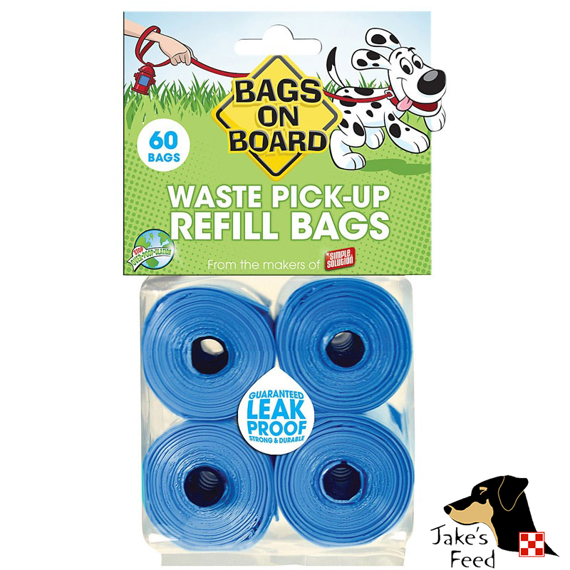 BAGS ON BOARD WASTE PICK-UP REFILL BAGS 4 ROLLS
