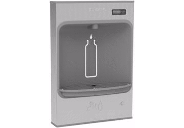 Elkay Coolers and Fountains Stainless Elkay EZH2O Mechanical Bottle Filling Station Surface Mount, Battery Powered Filtered Non-Refrigerated Stainless