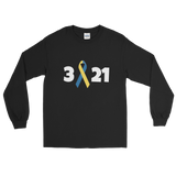3 21 Down Syndrome Awareness Unisex Long Sleeved Shirt - Choose Color - Sunshine and Spoons Shop