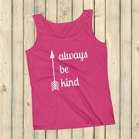 Always Be Kind Arrow Women's Tank Top - Choose Color - Sunshine and Spoons Shop
